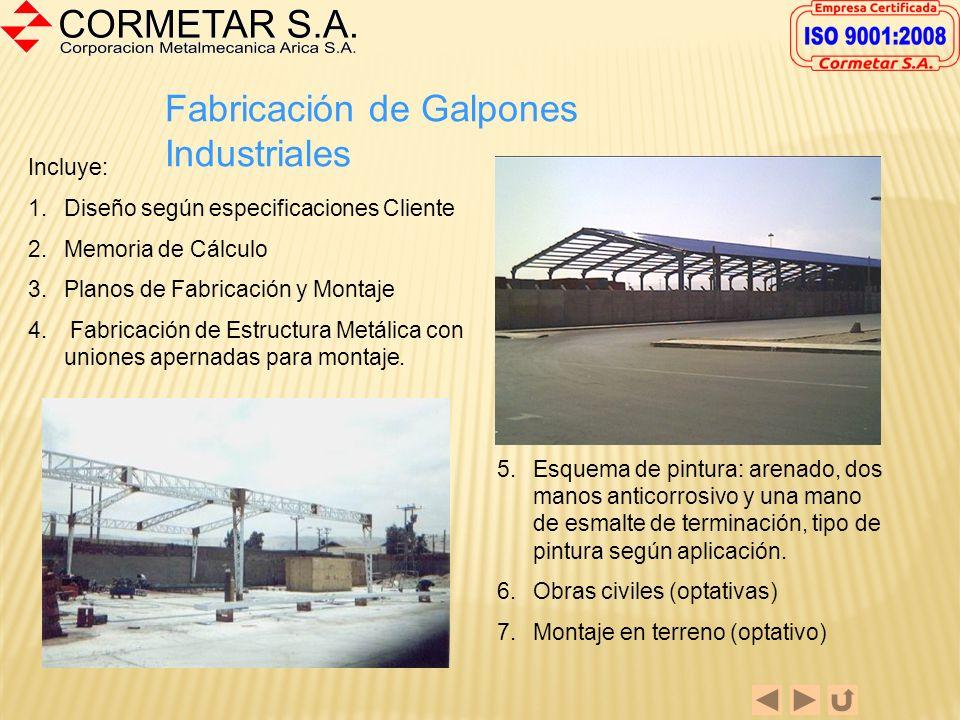 Fabricación de Estructuras Pesadas La fabricación de Estructuras pesadas se realiza con los más altos estándares de calidad, con aceros certificados y