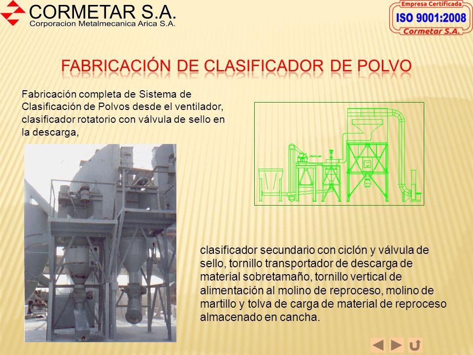 Fabricación de Cintas Transportadoras De estructura robusta dimensionada en directa proporción a los esfuerzos de trabajo producto de la carga transpo