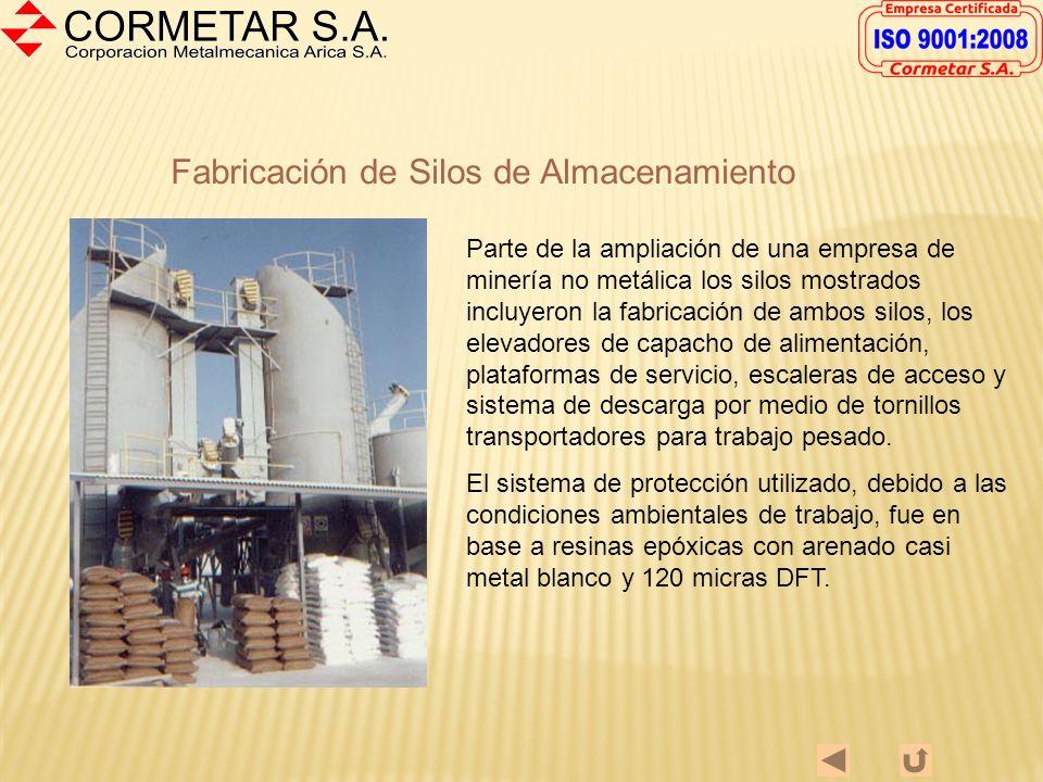 Reactores Las figuras muestran la fabricación de 2 Reactores, en terreno, para una industria de minería no metálica. Manto en A-36 Agitador en Inoxida