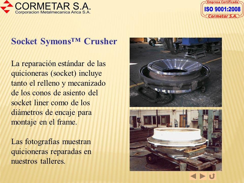 Bowl Chancadora Symons 5-½ El reacondicionamiento de los Bowls incluye la reparación de grietas, recuperación de rosca exterior, relleno y mecanizado