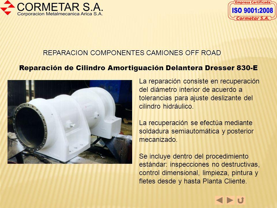 REPARACION DE COMPONENTES DE CAMIONES OFF-ROAD En las páginas siguientes se presentan componentes de camiones de alto tonelaje de uso normal en la Gra