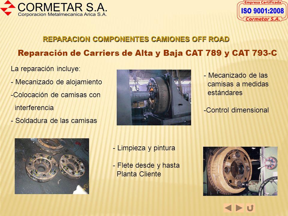 REPARACION COMPONENTES CAMIONES OFF ROAD Reparación de Masas de Ruedas Dresser 830-E y Caterpillar 793-C Las reparaciones de las Masas de Ruedas puede