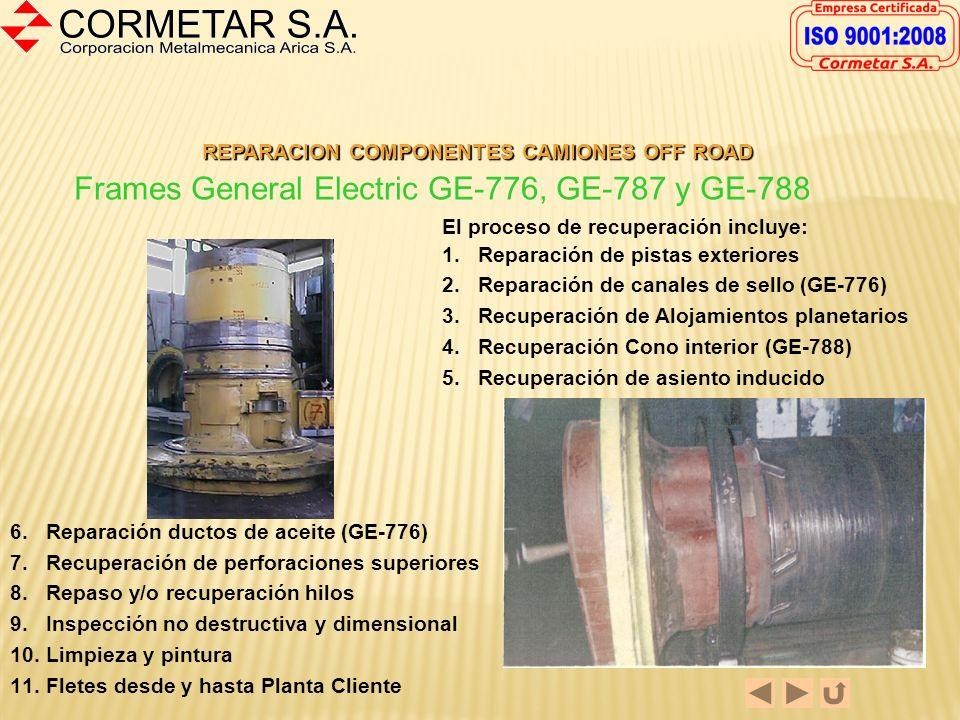 REPARACION COMPONENTES CAMIONES OFF ROAD Reparación de Carriers de Baja Komatsu 930-E La reparación estándar incluye: - Desbaste de alojamientos solar