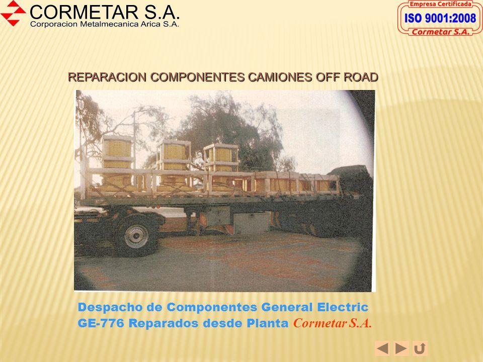REPARACION COMPONENTES CAMIONES OFF ROAD Wheel Hub Motores General Electric GE-776, GE-787 y GE-788 2.Recuperación de diámetros exteriores 3.Recuperac