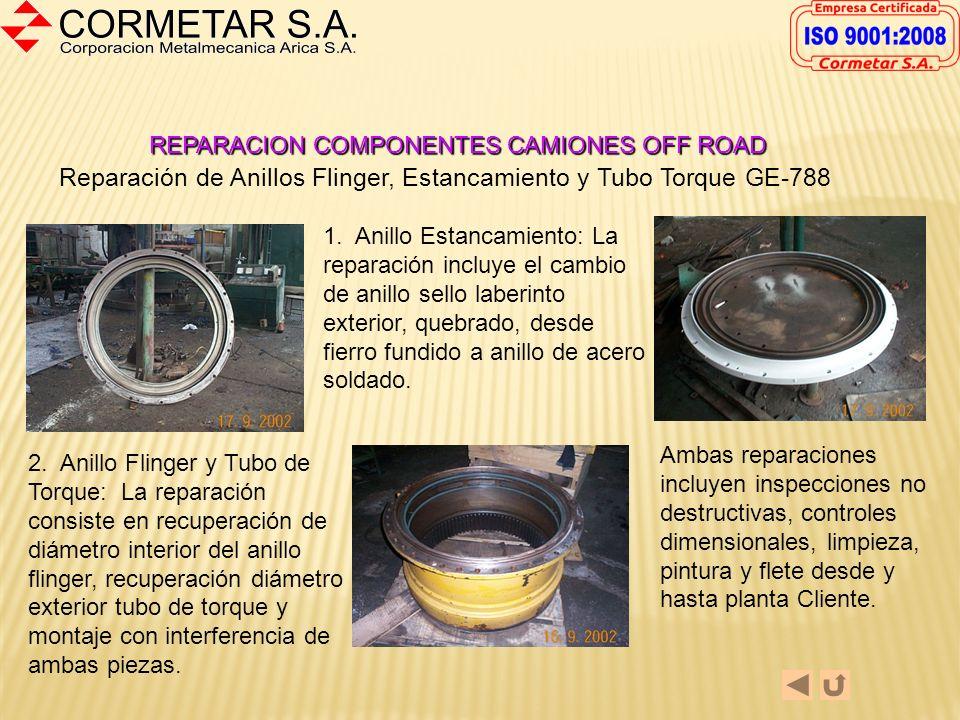 REPARACION COMPONENTES CAMIONES OFF ROAD Despacho de Componentes General Electric GE-776 Reparados desde Planta C ormetar S.A.