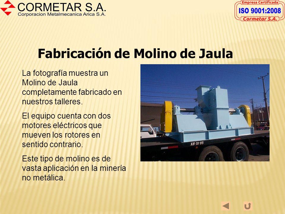 Fabricación de Centrífuga Utilizada en la minería no metálica para separación de agua y material en suspensión. Fabricada en Acero Estructural ASTM A-