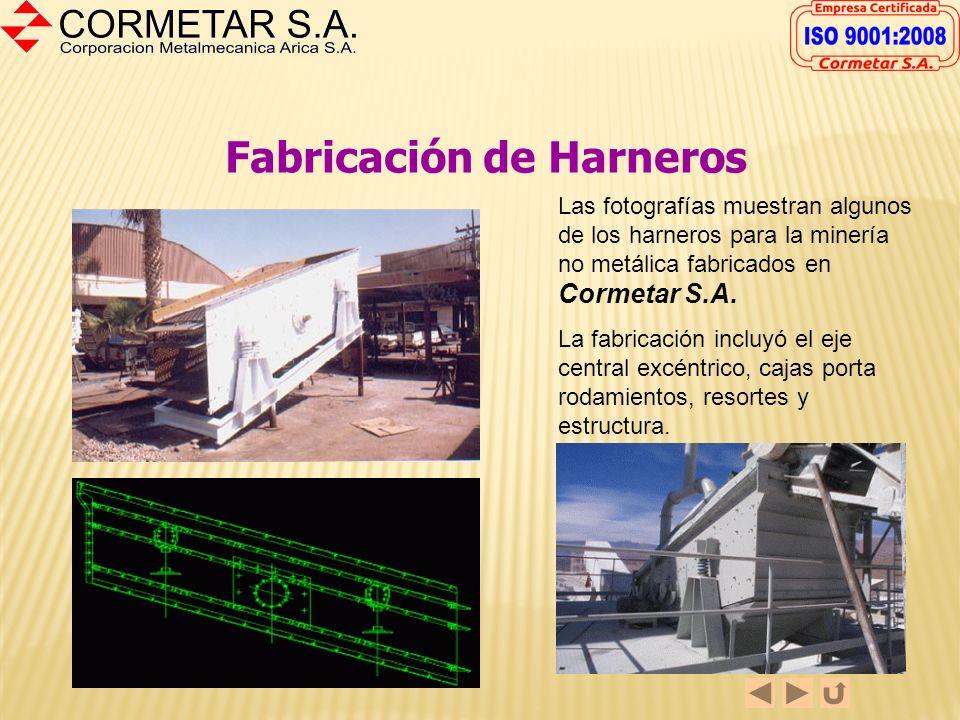 Fabricación de Harneros La fotografía muestra la fabricación de la estructura de un Harnero Tyler F-600 para una empresa minera La fabricación incluyó