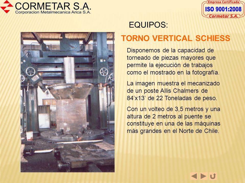 Estructuras y Calderería (02) Cilindradoras 2.000 mm x 28 mm. (01) Plegadora 5.000 mm x 12 mm (02) Cizalla 3.150 x 16 mm Arco sumergido Lincoln 600 A.