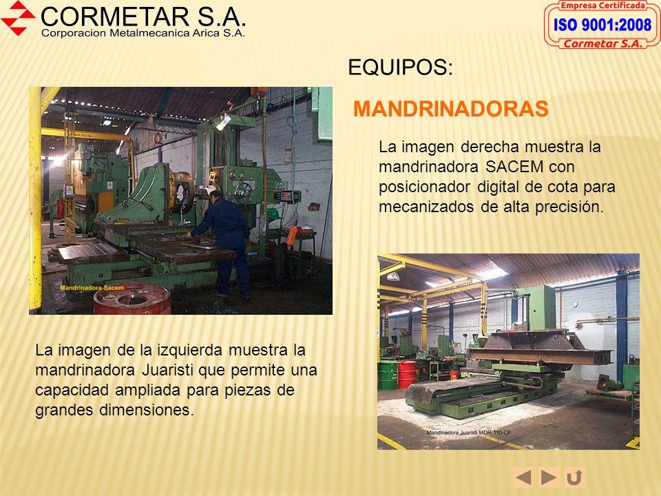 La capacidad de mecanizado de piezas mayores ha sido importantemente reforzada con la entrada en servicio del torno vertical Sedin de 2,5 metros de vo