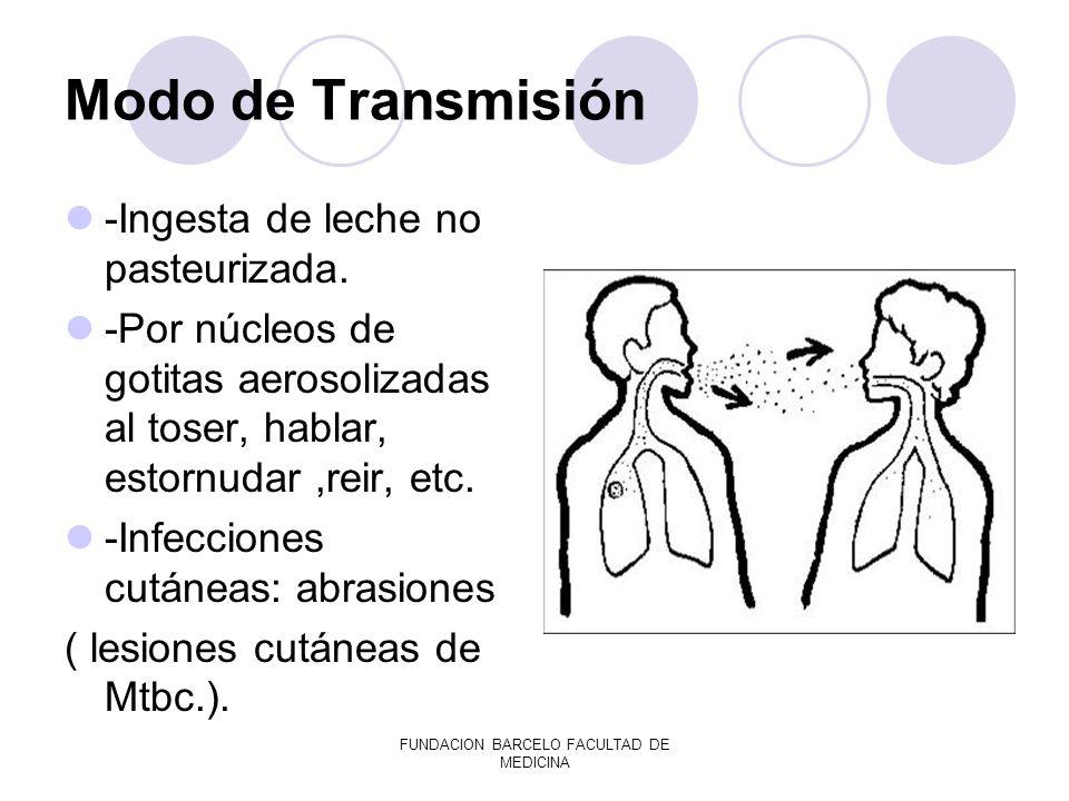 FUNDACION BARCELO FACULTAD DE MEDICINA DIAGNÓSTICO: Por baciloscopía Por evidencia de alteraciones de la sensibilidad.