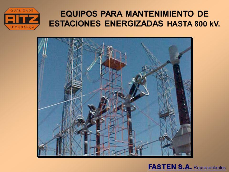 DETALLE DE MONTAJE Y UTILIZACION DEL ANDAMIO PARA MANUTENIMIENTO DE UN DISYUNTOR EN SUBESTACION DE 138 kV.