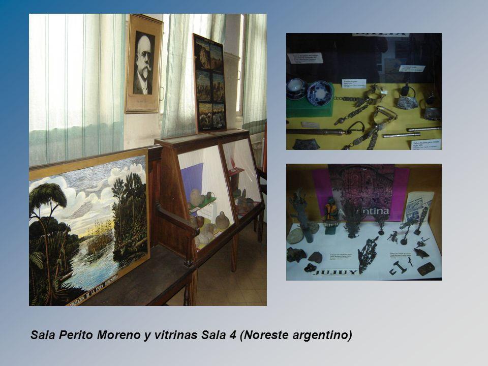 Sala Perito Moreno y vitrinas Sala 4 (Noreste argentino)