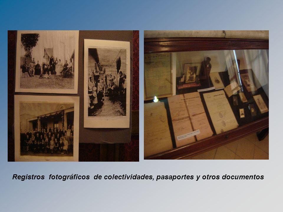 Registros fotográficos de colectividades, pasaportes y otros documentos