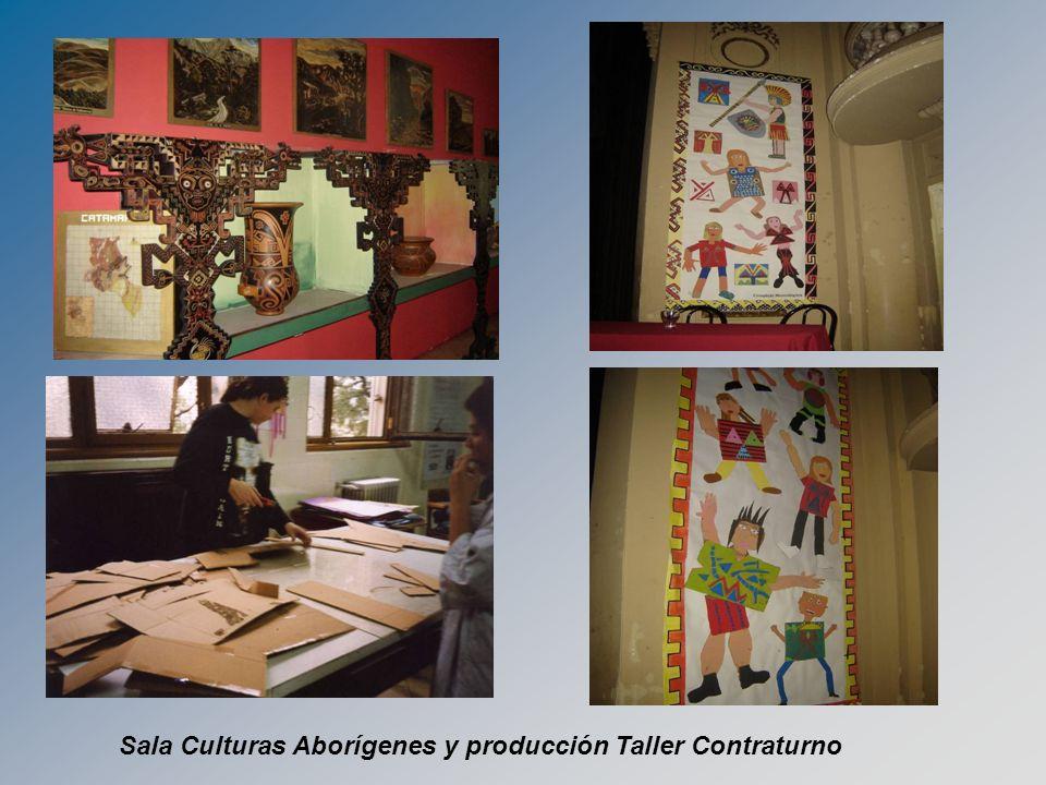 Sala Culturas Aborígenes y producción Taller Contraturno