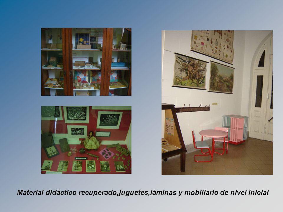 Material didáctico recuperado,juguetes,láminas y mobiliario de nivel inicial