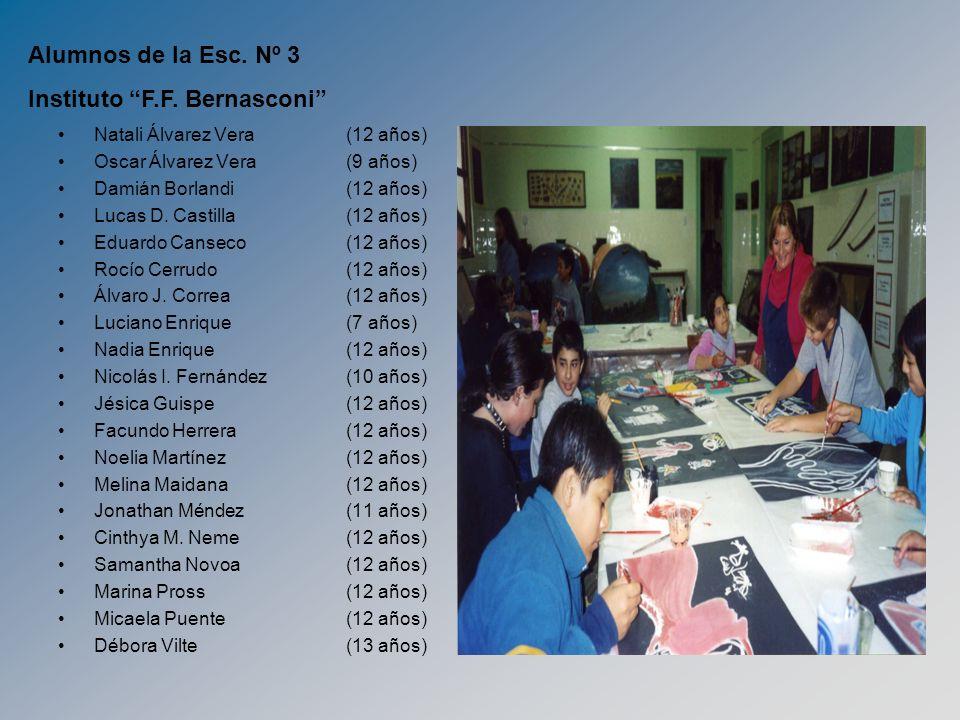 Natali Álvarez Vera (12 años) Oscar Álvarez Vera (9 años) Damián Borlandi (12 años) Lucas D. Castilla(12 años) Eduardo Canseco (12 años) Rocío Cerrudo