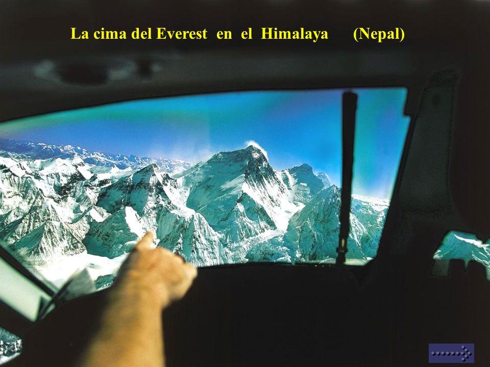 La cima del Everest en el Himalaya (Nepal)