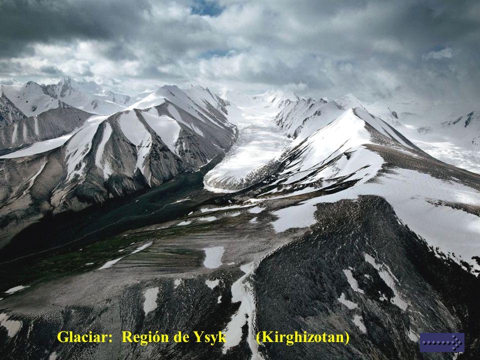 Glaciar: Región de Ysyk (Kirghizotan)
