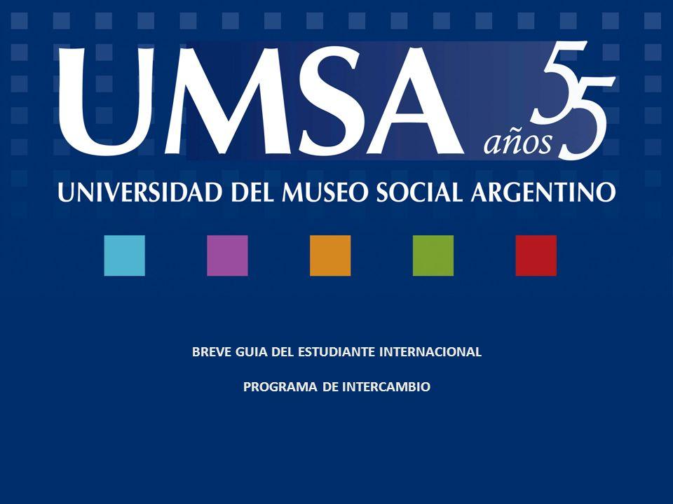 BREVE GUIA DEL ESTUDIANTE INTERNACIONAL PROGRAMA DE INTERCAMBIO