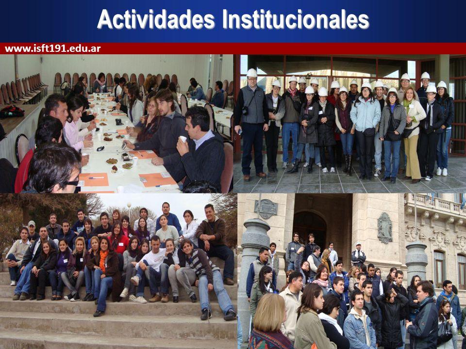 Actividades Institucionales www.isft191.edu.ar