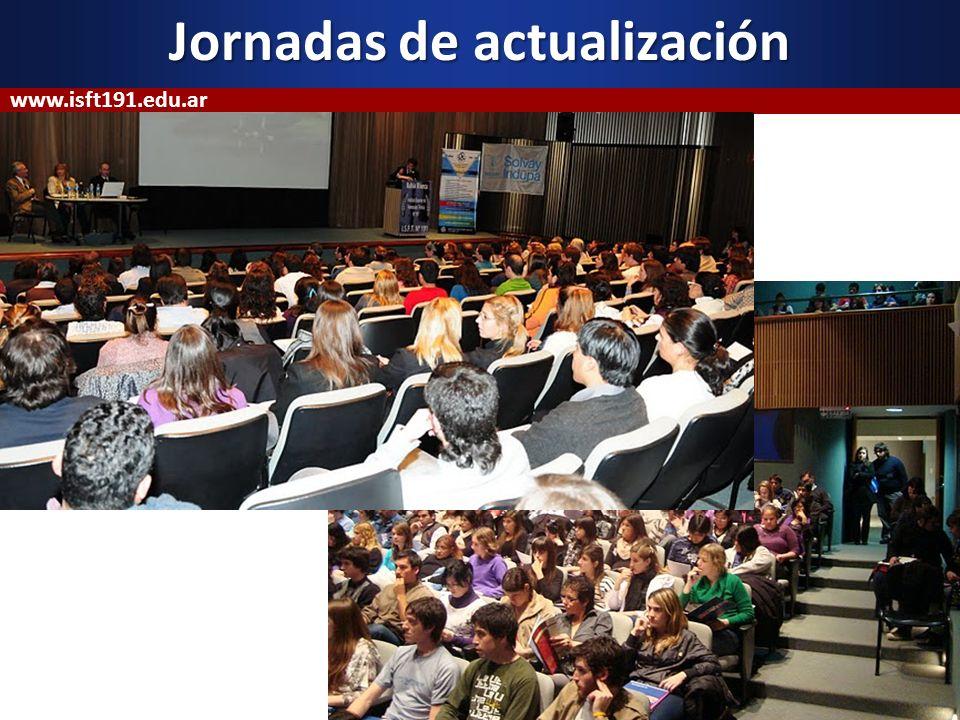 Jornadas de actualización www.isft191.edu.ar