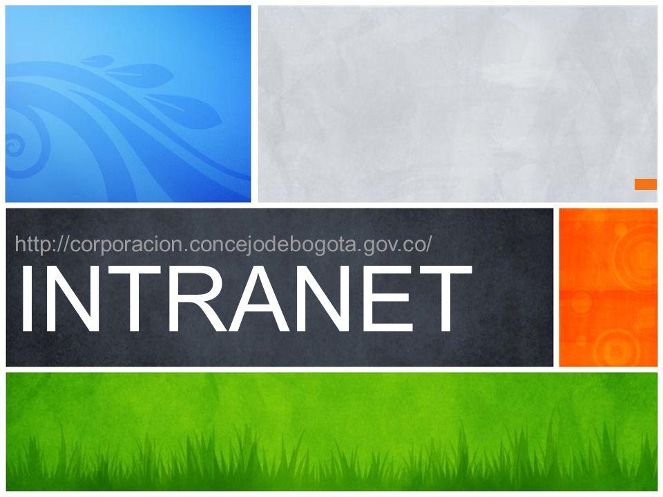 ¿Cuál es el mensaje Consultar, Actualizar y Divulgarhttp://corporacion.concejodebogota.gov.co http://corporacion.concejodebogota.gov.co/ INTRANET