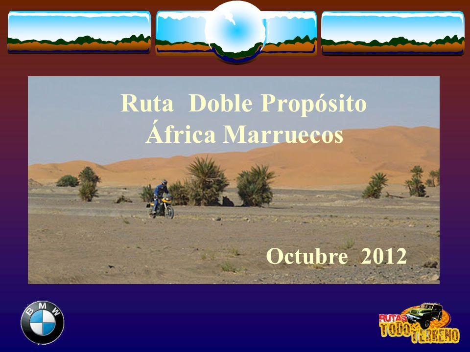 Ruta Doble Propósito África Marruecos Octubre 2012