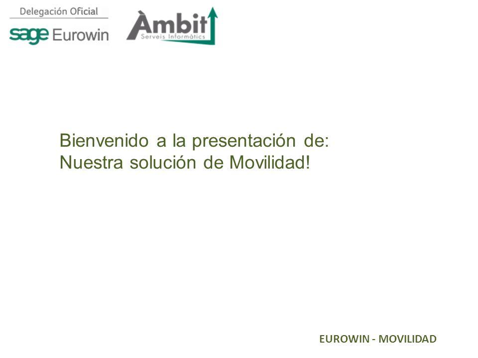 EUROWIN - MOVILIDAD Bienvenido a la presentación de: Nuestra solución de Movilidad!