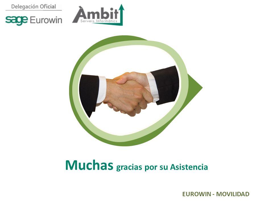 EUROWIN - MOVILIDAD Muchas gracias por su Asistencia