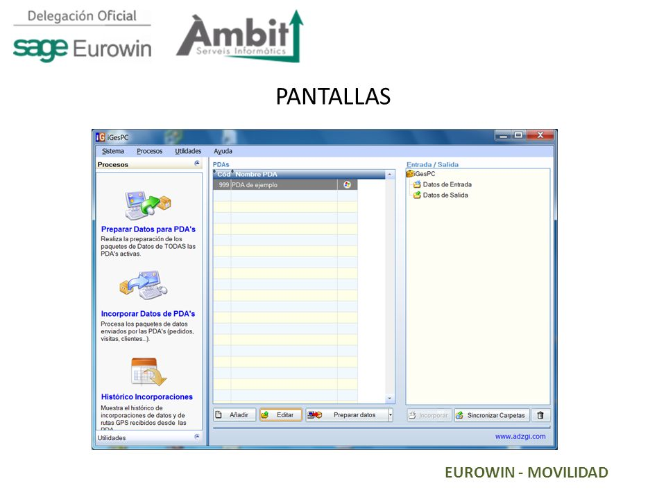 EUROWIN - MOVILIDAD PANTALLAS