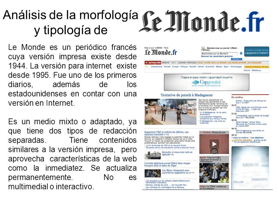 Le Monde es un periódico francés cuya versión impresa existe desde 1944.