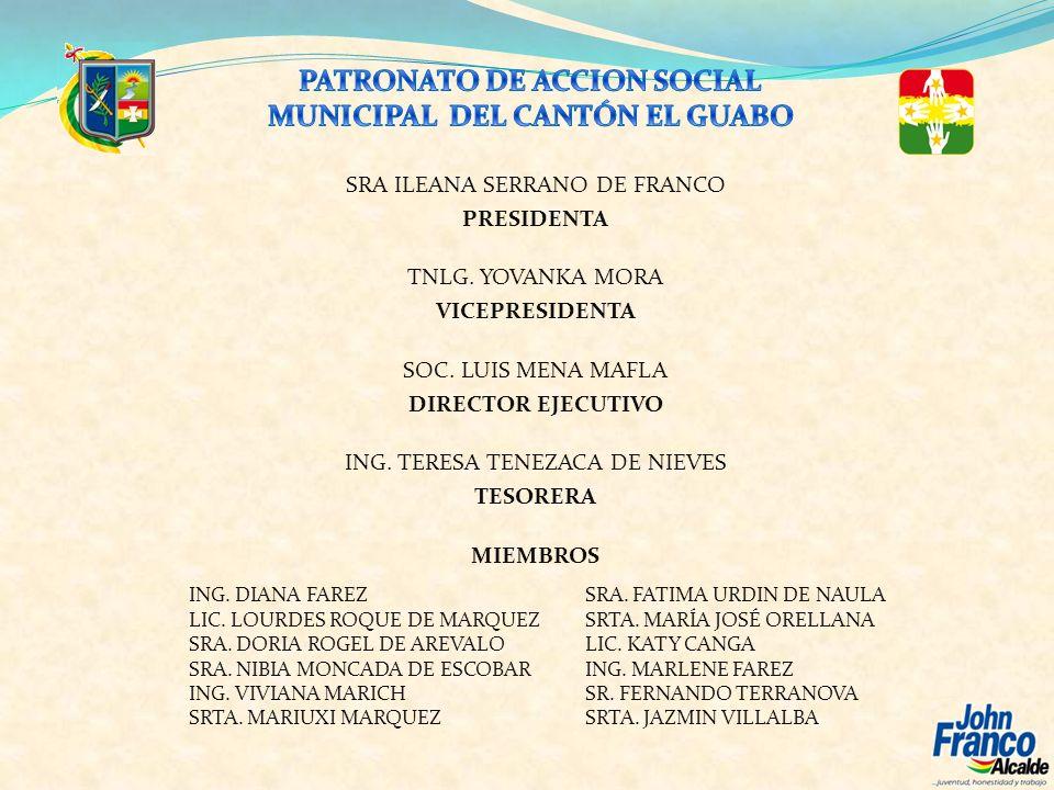 ANTECEDENTES: En el contexto humano y de desarrollo integral de la familia, el Gobierno Autónomo Descentralizado Municipal del cantón El Guabo, representado por su Alcalde el señor Ing.