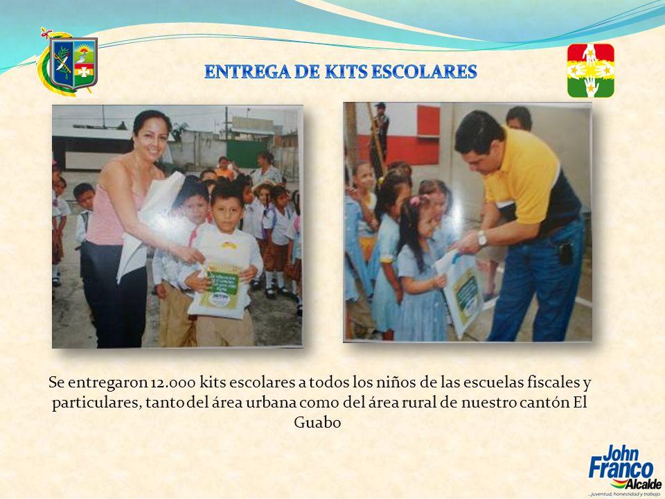 Se entregaron 12.000 kits escolares a todos los niños de las escuelas fiscales y particulares, tanto del área urbana como del área rural de nuestro ca