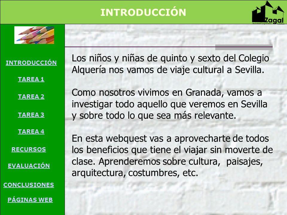 Los niños y niñas de quinto y sexto del Colegio Alquería nos vamos de viaje cultural a Sevilla. Como nosotros vivimos en Granada, vamos a investigar t