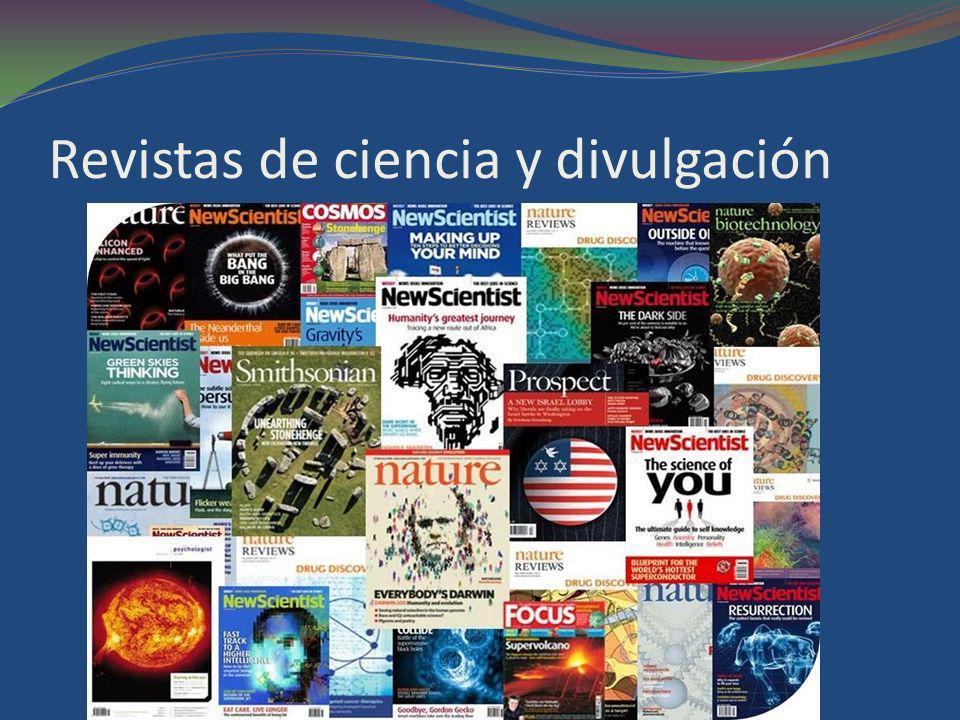 Revistas de ciencia y divulgación