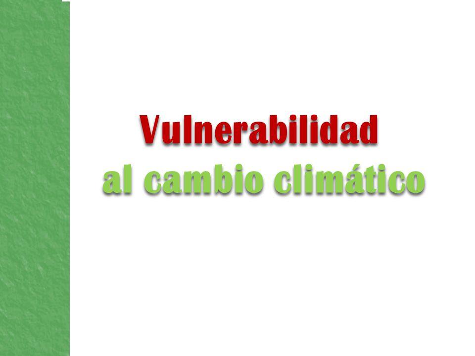 La vulnerabilidad de las diferentes regiones es importante porque: El clima no posibilita el desarrollo de los sectores económicos.