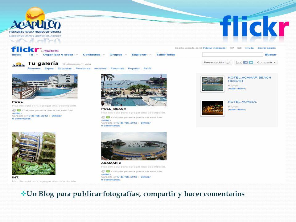 Un Blog para publicar fotografías, compartir y hacer comentarios