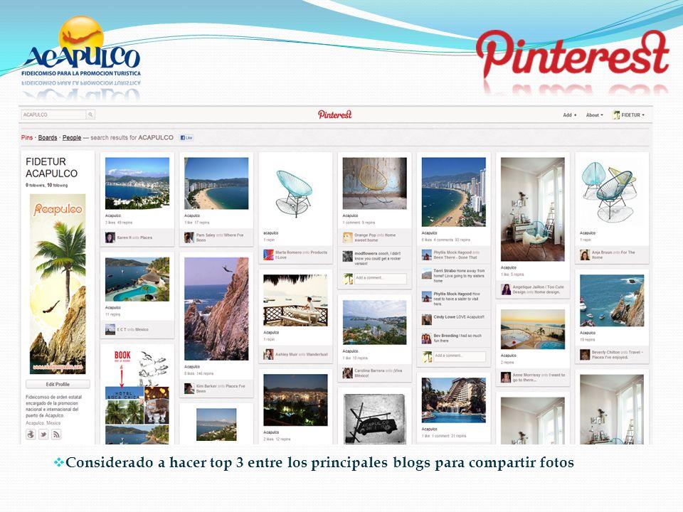 Considerado a hacer top 3 entre los principales blogs para compartir fotos