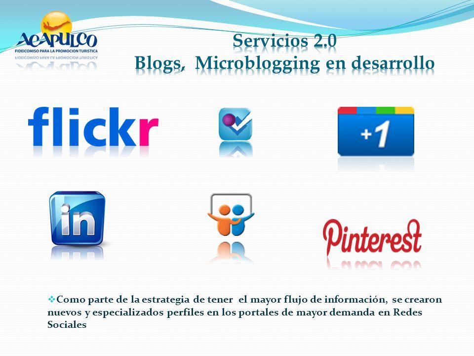 Como parte de la estrategia de tener el mayor flujo de información, se crearon nuevos y especializados perfiles en los portales de mayor demanda en Redes Sociales