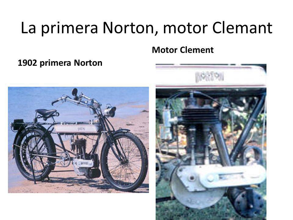 La primera Norton, motor Clemant 1902 primera Norton Motor Clement