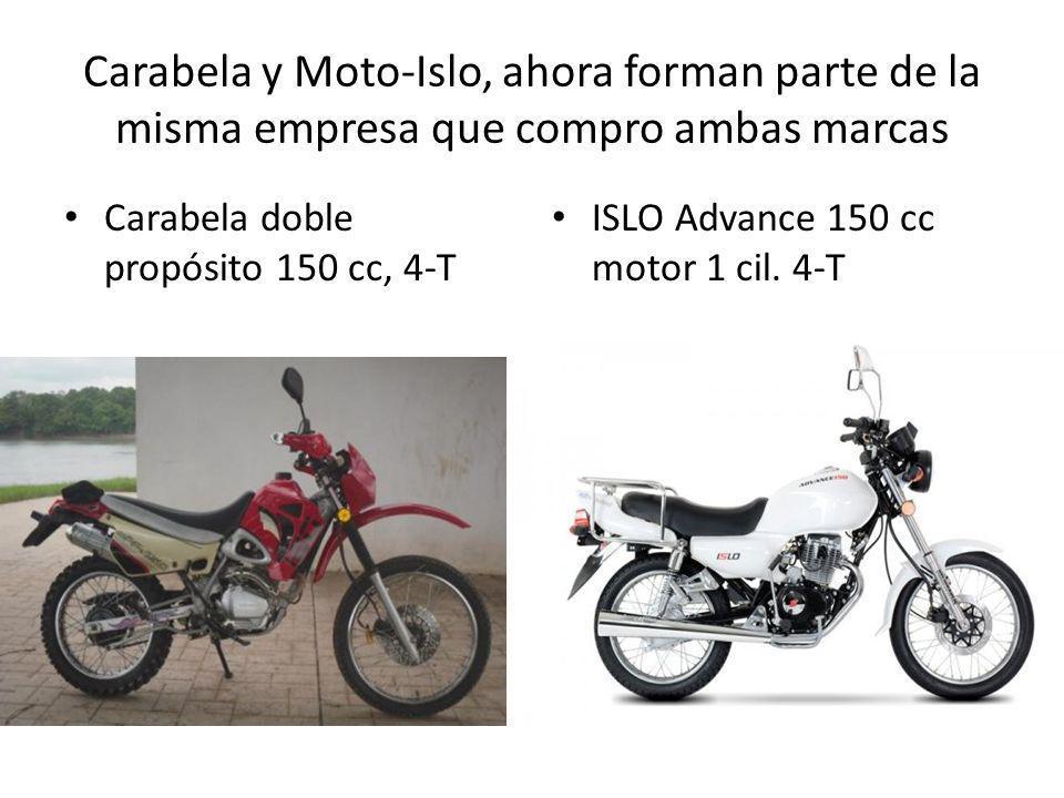 Carabela y Moto-Islo, ahora forman parte de la misma empresa que compro ambas marcas Carabela doble propósito 150 cc, 4-T ISLO Advance 150 cc motor 1