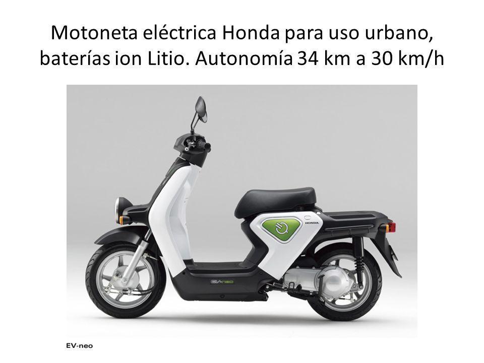 Motoneta eléctrica Honda para uso urbano, baterías ion Litio. Autonomía 34 km a 30 km/h