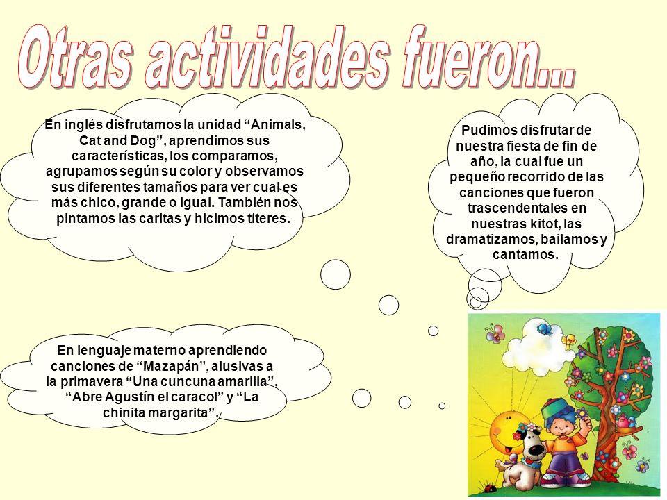 Conocimos las características de esta estación del año e incorporamos nuevo vocabulario: prajim (flores), tzipor (pajaro), shemesh (sol), parpar (mari