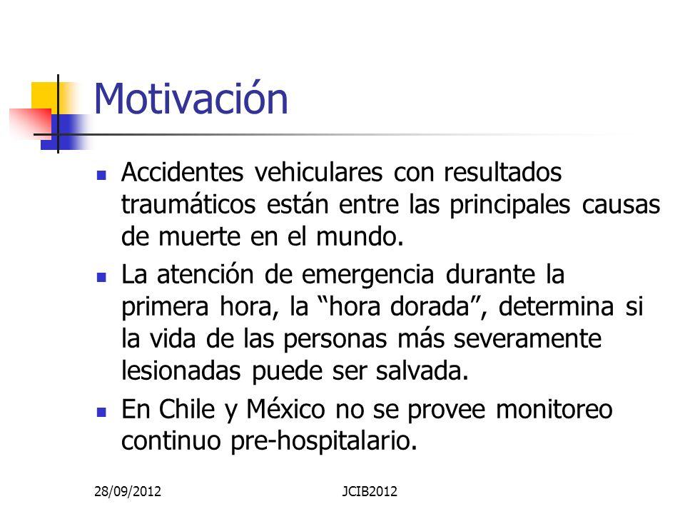 Motivación Accidentes vehiculares con resultados traumáticos están entre las principales causas de muerte en el mundo.