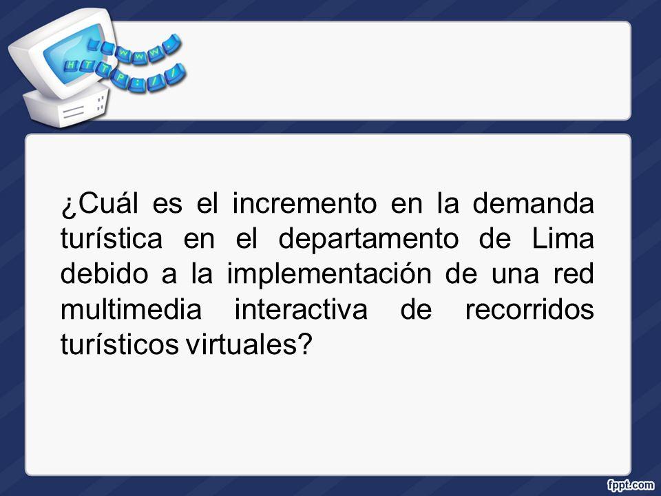 ¿Cuál es el incremento en la demanda turística en el departamento de Lima debido a la implementación de una red multimedia interactiva de recorridos t