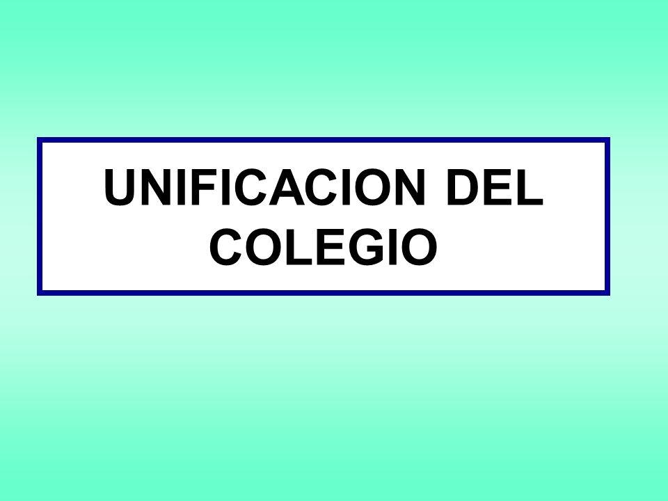 UNIFICACION DEL COLEGIO