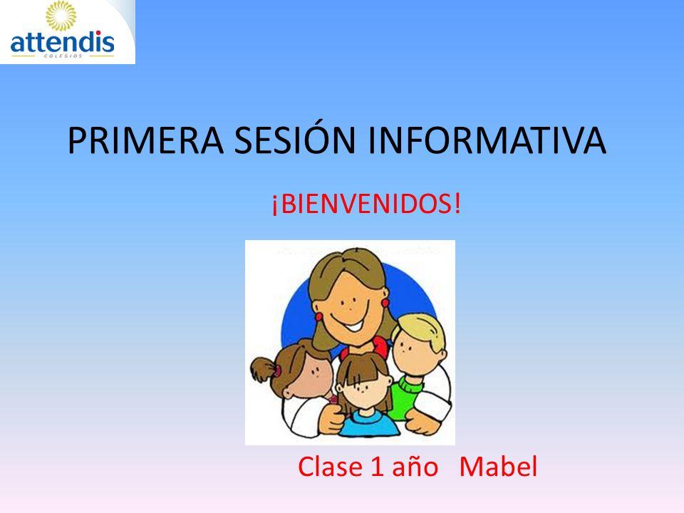 PRIMERA SESIÓN INFORMATIVA ¡BIENVENIDOS! Clase 1 año Mabel