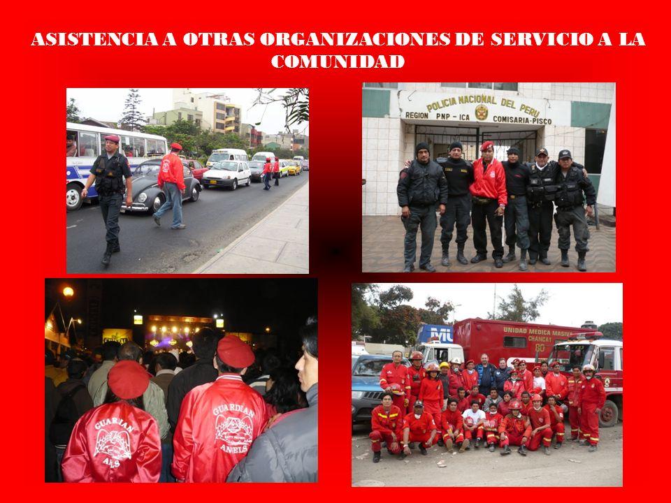 ASISTENCIA A OTRAS ORGANIZACIONES DE SERVICIO A LA COMUNIDAD