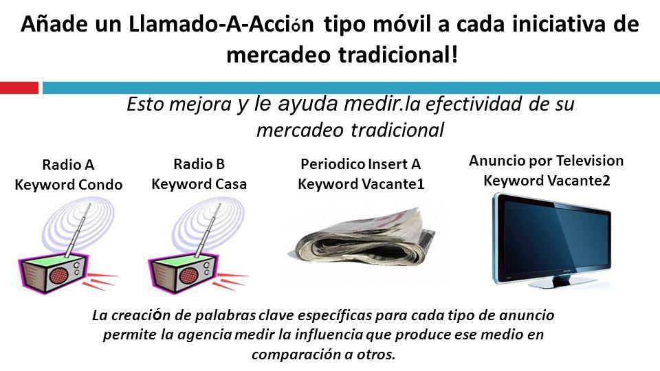 Añade un Llamado-A-Acci ó n tipo móvil a cada iniciativa de mercadeo tradicional.