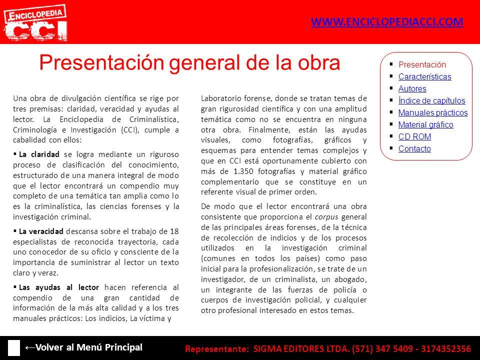 Características: Representante: SIGMA EDITORES LTDA.